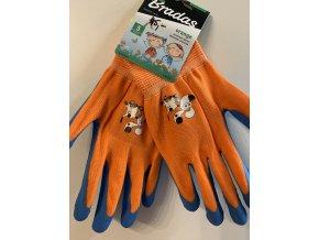 BRADAS ORANGE dětské pracovní rukavice
