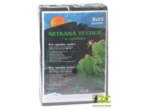 Netkaná textilie s výsekem černá na saláty