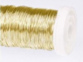 Drát na cívce 0,3mm/75g zlatý