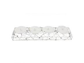 Adventní svícen na 4 svíčky - bílý 39 x 10 cm