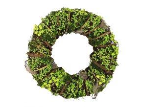 venec se zelenymi dekoracemi