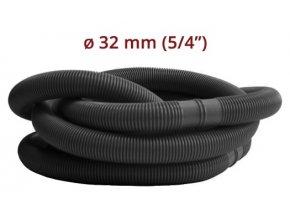 """Bazénová hadice -  černá 5/4"""" 32 mm 1.1 m díl"""