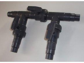 Tříventilový obtokový ventil 32 / 38 mm