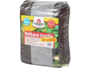 Netkaná textilie černobílá