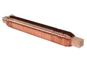 Vázací drátek - 0,65 mm, 0,1 kg, poměděný