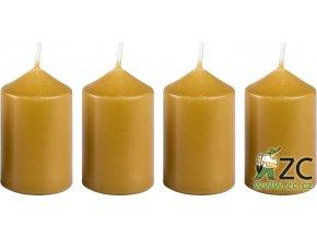 Svíčka adventní 40 x 60 mm  4 ks - medově světlá
