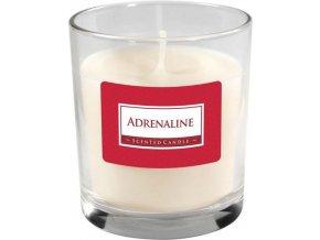 Svíčka vonná - sklo parfém, Adrenaline