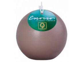 Svíčka Emocio Classic koule 80 mm zemitá