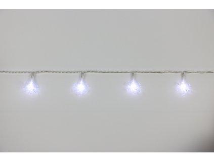 Řetěz vločky Bílá 20 LED