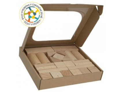 Kostky dřevěné - 25ks - T-Wood