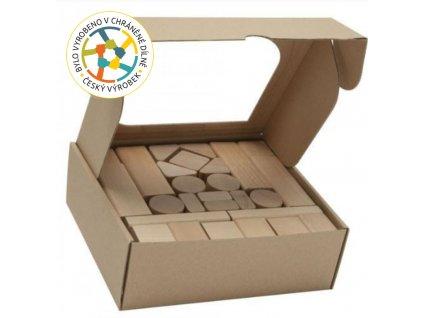 Kostky dřevěné - 50ks - T-Wood