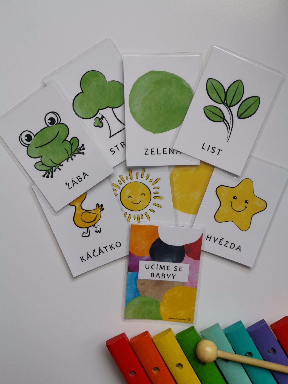 Vzdělávací kartičky UČÍME SE BARVY