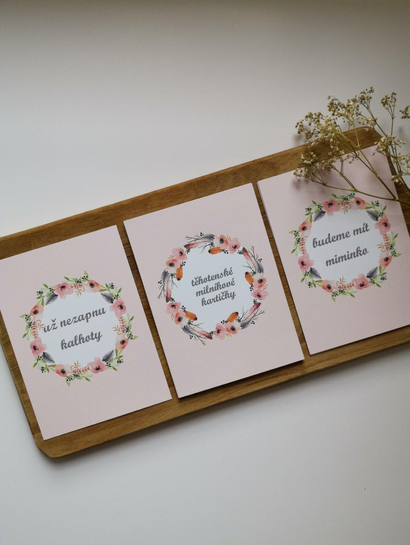 Těhotenské milníkové kartičky BOHO