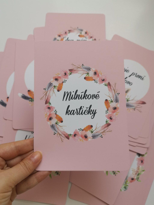 Milníkové kartičky BOHO HOLČIČKA