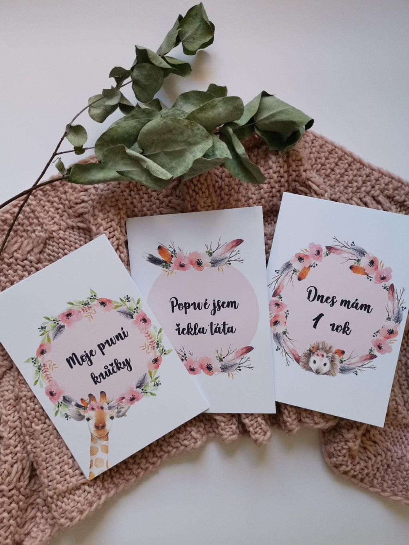 Milníkové kartičky BOHO