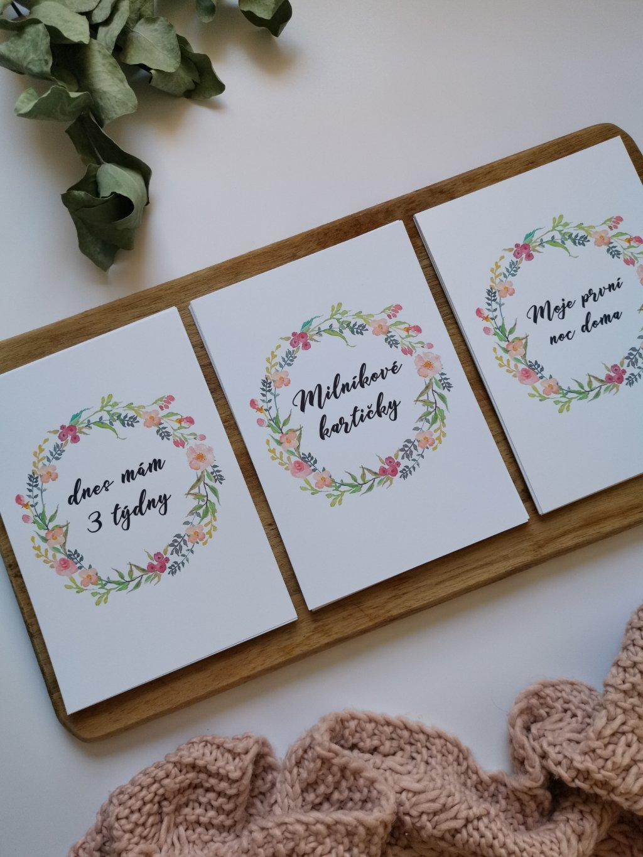 Milníkové kartičky KVĚTINKA
