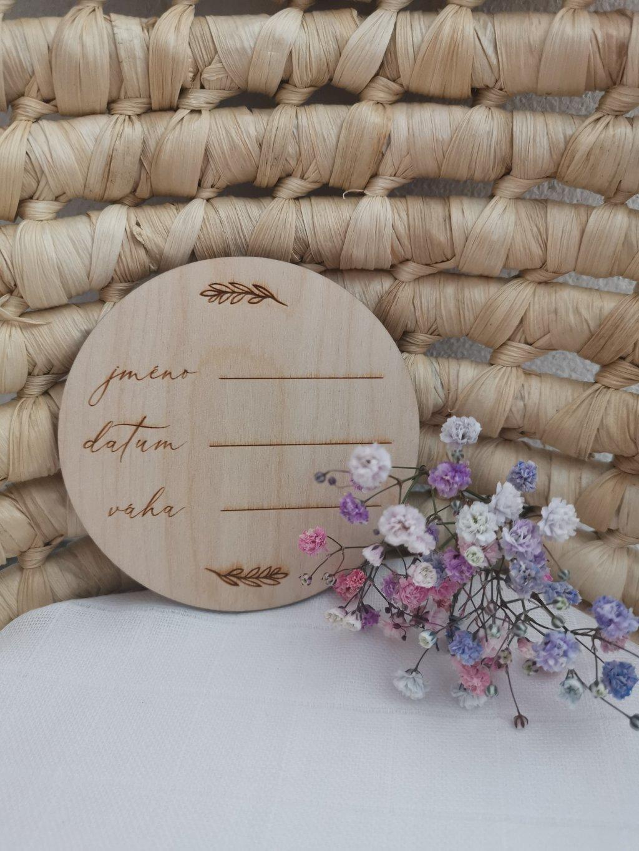 Dřevěné kolečko pro miminko