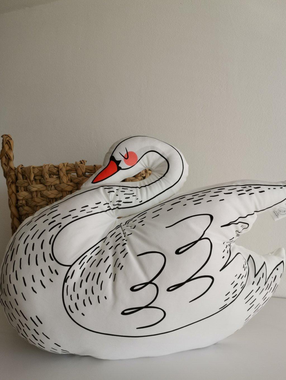 Polštářek labuť JASMÍNA