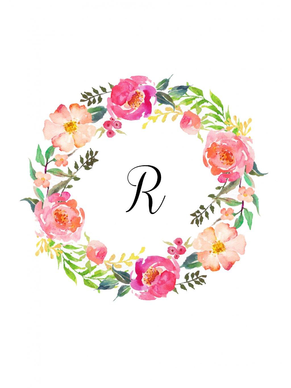 věneček růže monogram