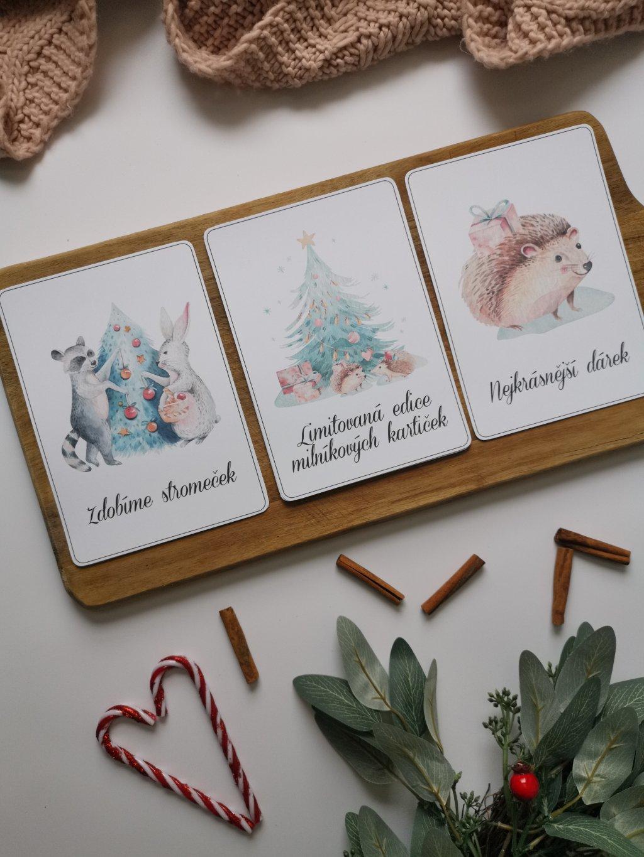 Milníkové kartičky VÁNOCE V LESE