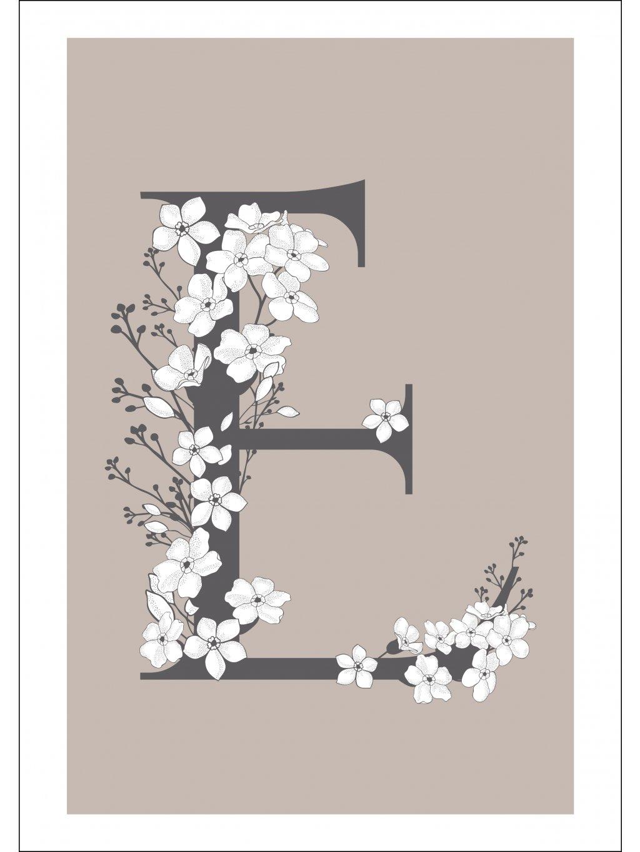 plakat písmeno květina