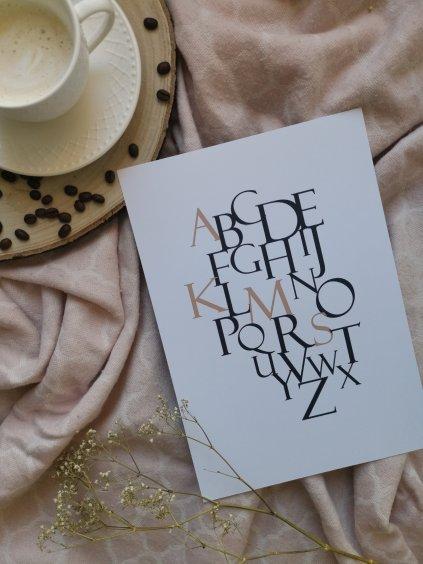 Plakát abeceda s iniciály