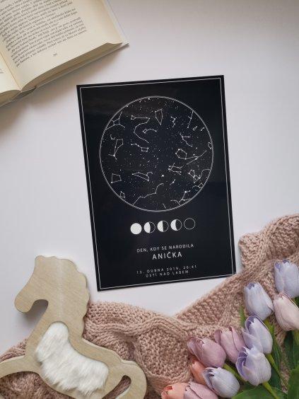 Hvězdná mapa životního okamžiku vzor 8