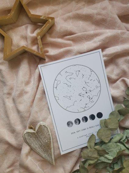 Hvězdná mapa životního okamžiku vzor 2
