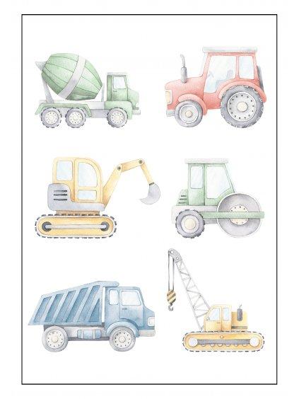 stavební stroje rámeček