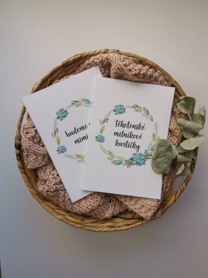 Těhotenské milníkové kartičky SUKULENT
