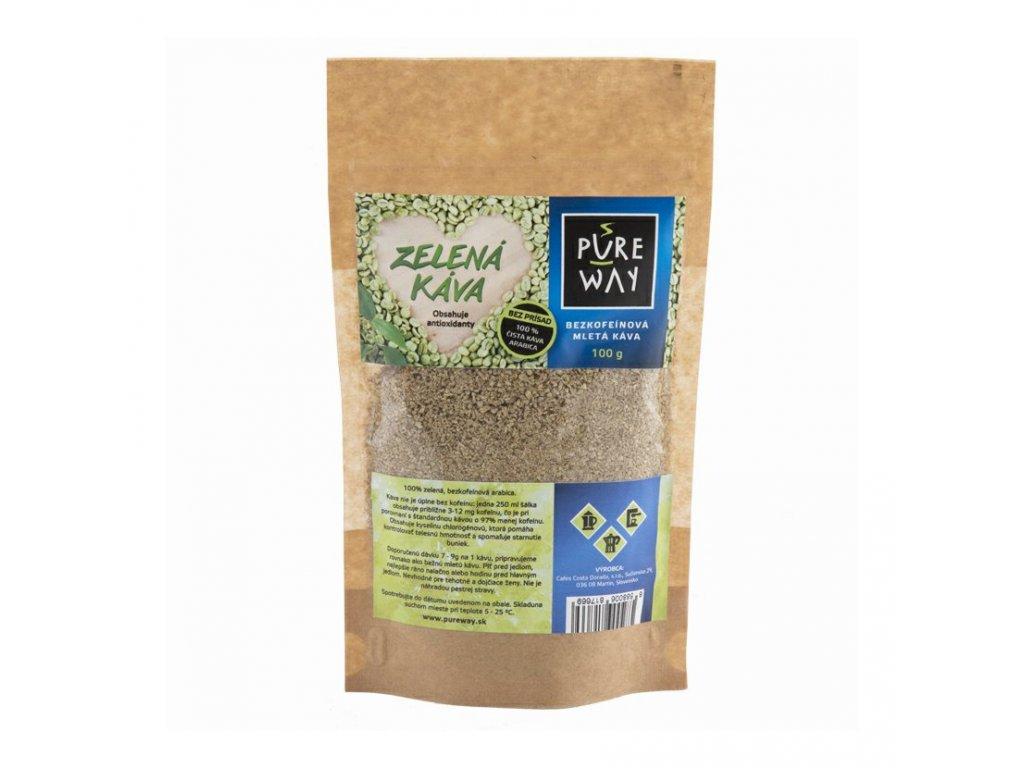 Pureway Zelena bezkofeinova kava 100g