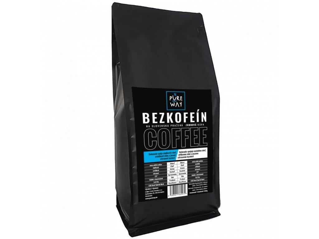 Pureway Bezkofeinova kava 1000g zrnkova
