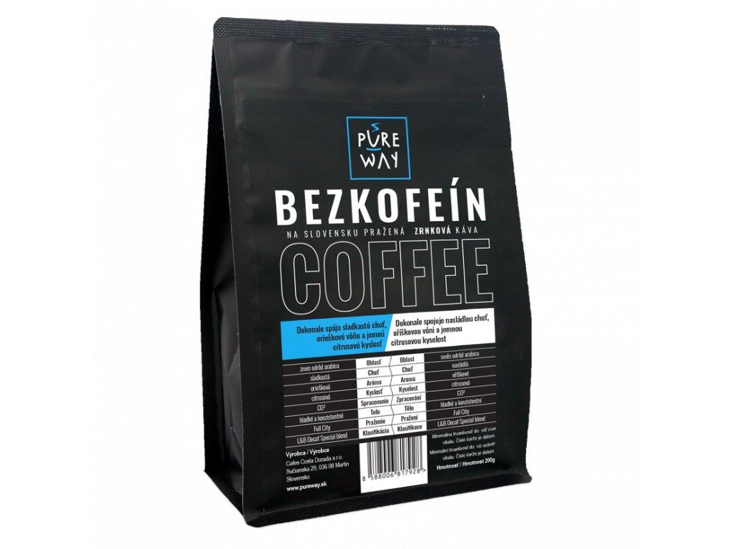 Pureway Bezkofeinova kava 200g zrnkova