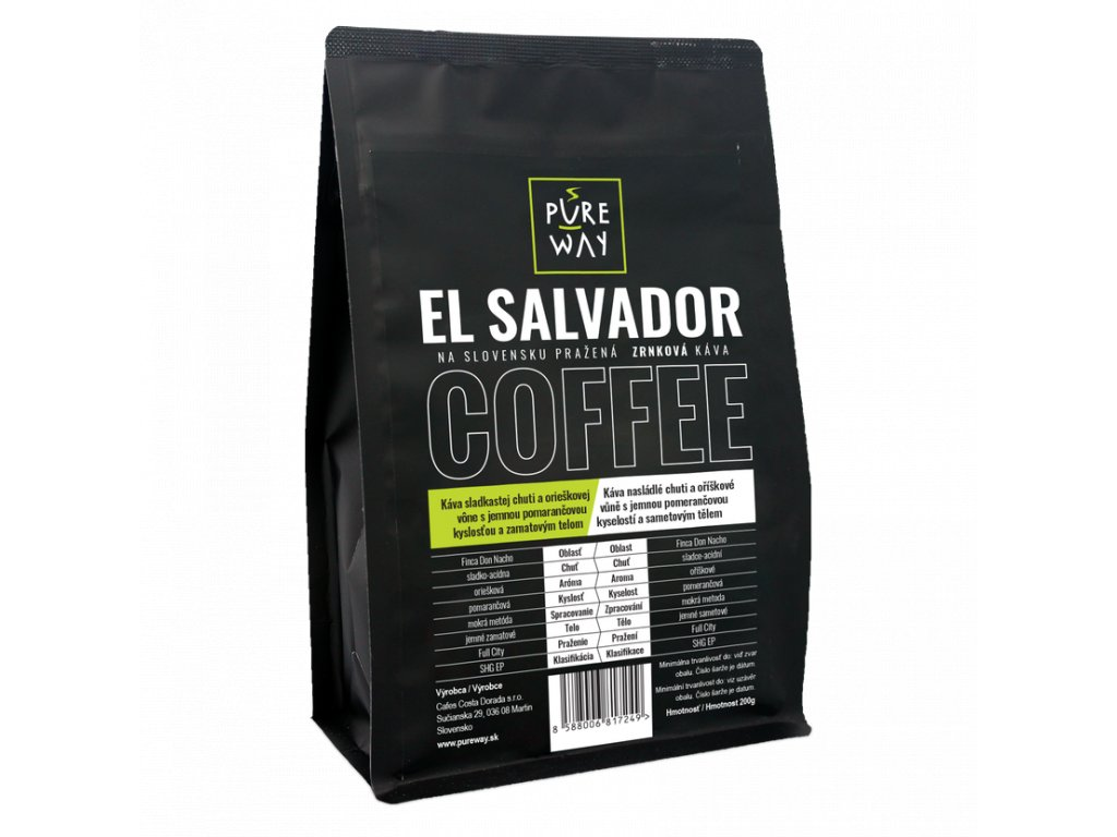 Pureway El Salvador 200g zrnková