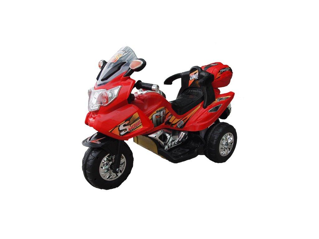 Elektrická motorka dětská Race 68 červená