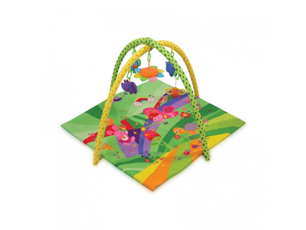 Hrací deka s hrazdou Lorelli FAIRY TALES GREEN 89X84