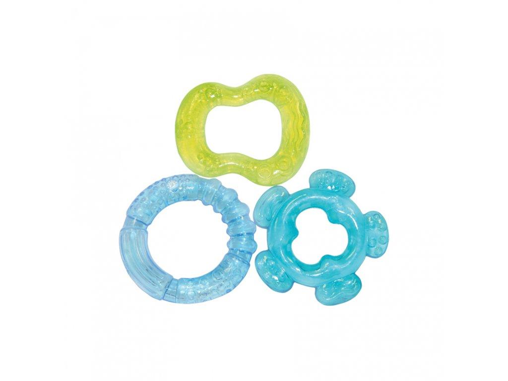 Sada silikonových kousátků Lorelli - 3 ks. GREEN/BLUE
