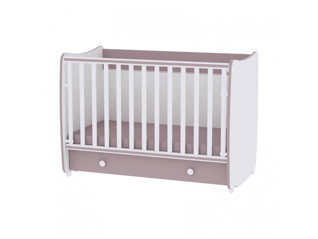 Multifunkční dětská postýlka Lorelli DREAM NEW 120x60 CM WHITE/CAPPUCCINO