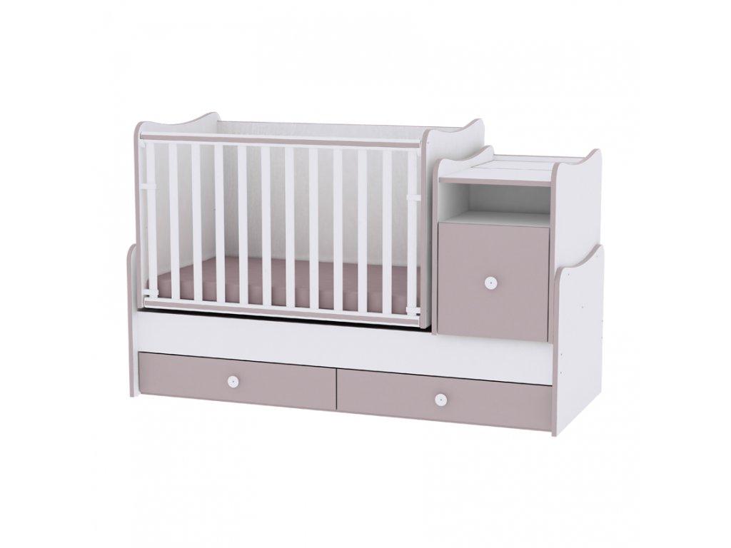Multifunkční dětská postýlka Lorelli TREND PLUS NEW WHITE/CAPPUCCINO