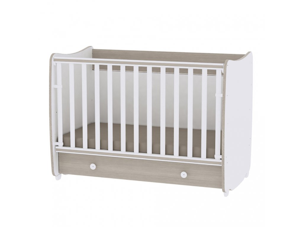 Multifunkční dětská postýlka Lorelli DREAM NEW 120x60 CM WHITE/AMBER