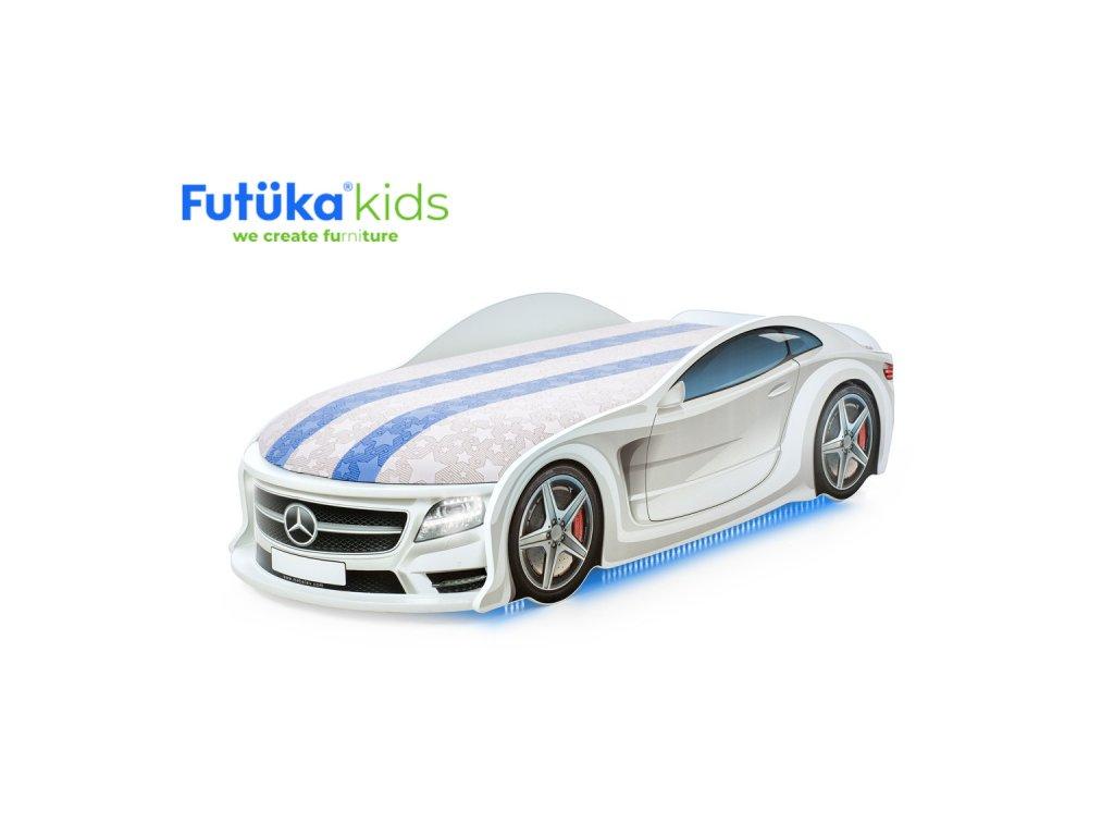 """Postýlka auto UNO F-BMV bílá,""""S-Alcantara"""", LED světla, Spodní světlo"""