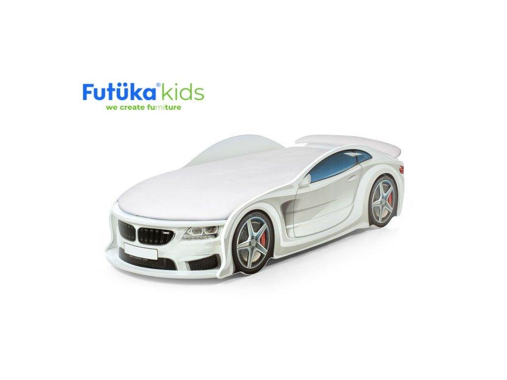 """Postýlka auto UNO F-BMW bílá, """"Standart"""" ,Spojler"""