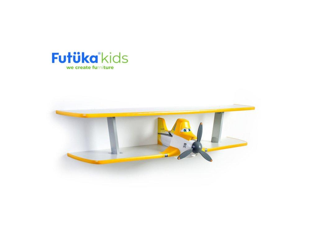 Dětská polička Futuka kids AIR-2 dvoupatrová YELLOW