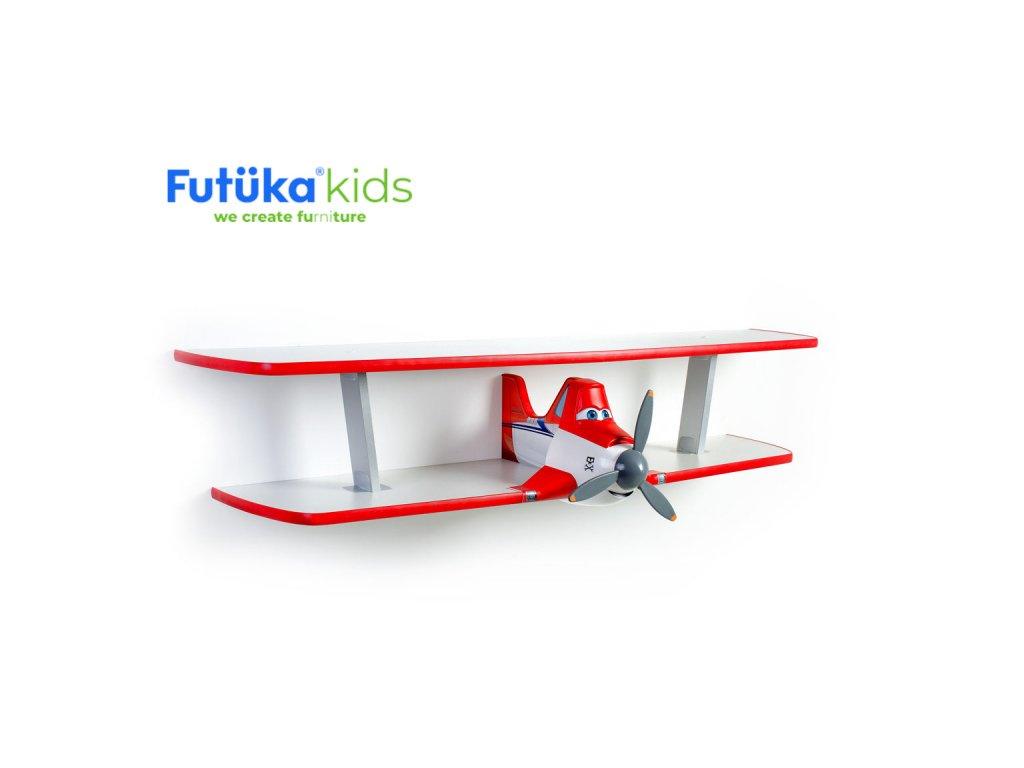 Dětská polička Futuka kids AIR-2 dvoupatrová RED