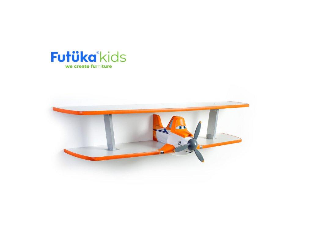 Dětská polička Futuka kids AIR-2 dvoupatrová ORANGE