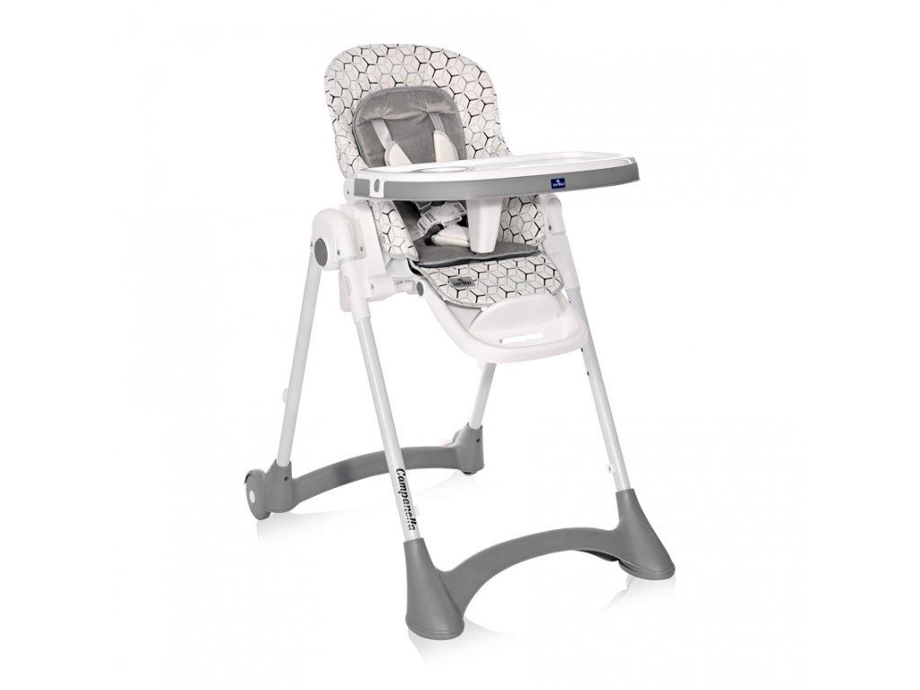 Jídelní židlička Lorelli CAMPANELLA GREY NET