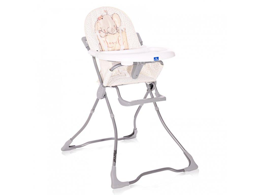 Jídelní židlička Lorelli MARCEL GREY ELEPHANT