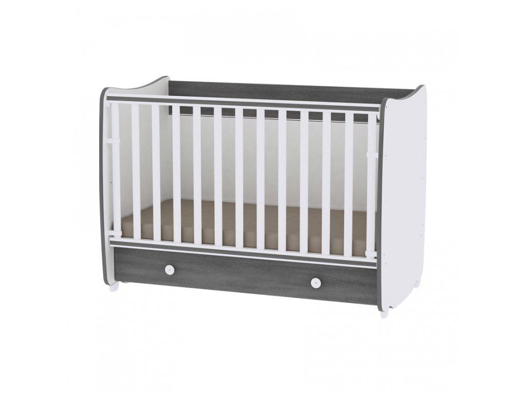 Multifunkční dětská postýlka Lorelli DREAM NEW 120x60 CM WHITE/VINTAGE GRAY