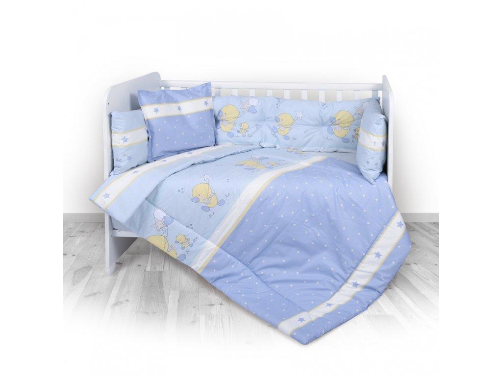 5-dílná dětská souprava do postýlky - 4 mantinel Lorelli RANFORCE LITTLE DUCKS BLUE