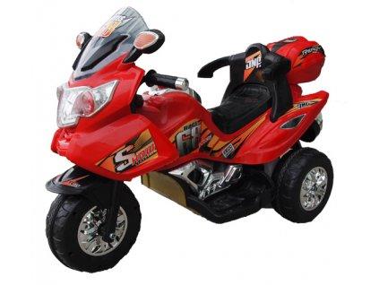 Dětská elektrická motorka Race 68 červená